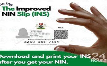 print Improved NIN Slip